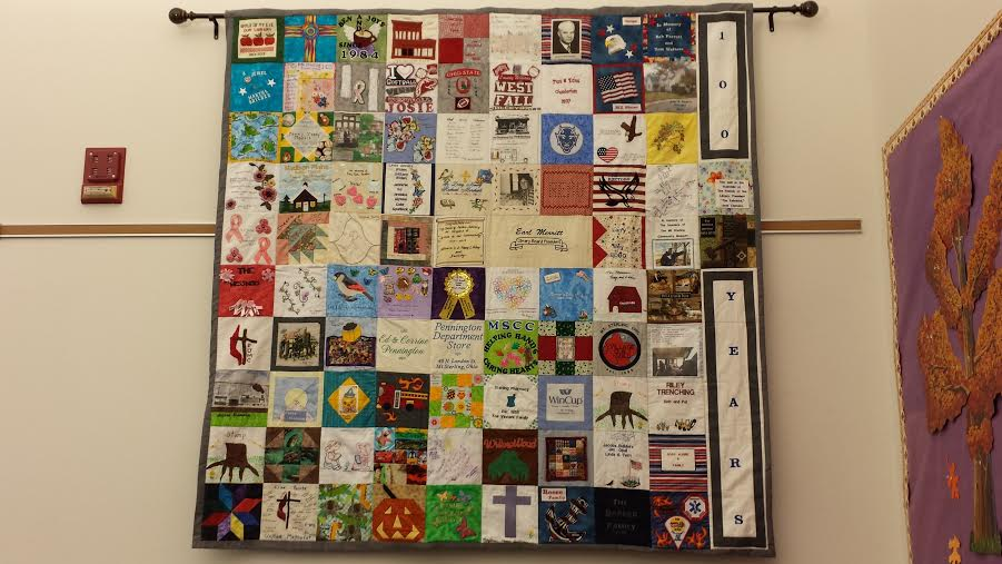 Centennial Quilt on display