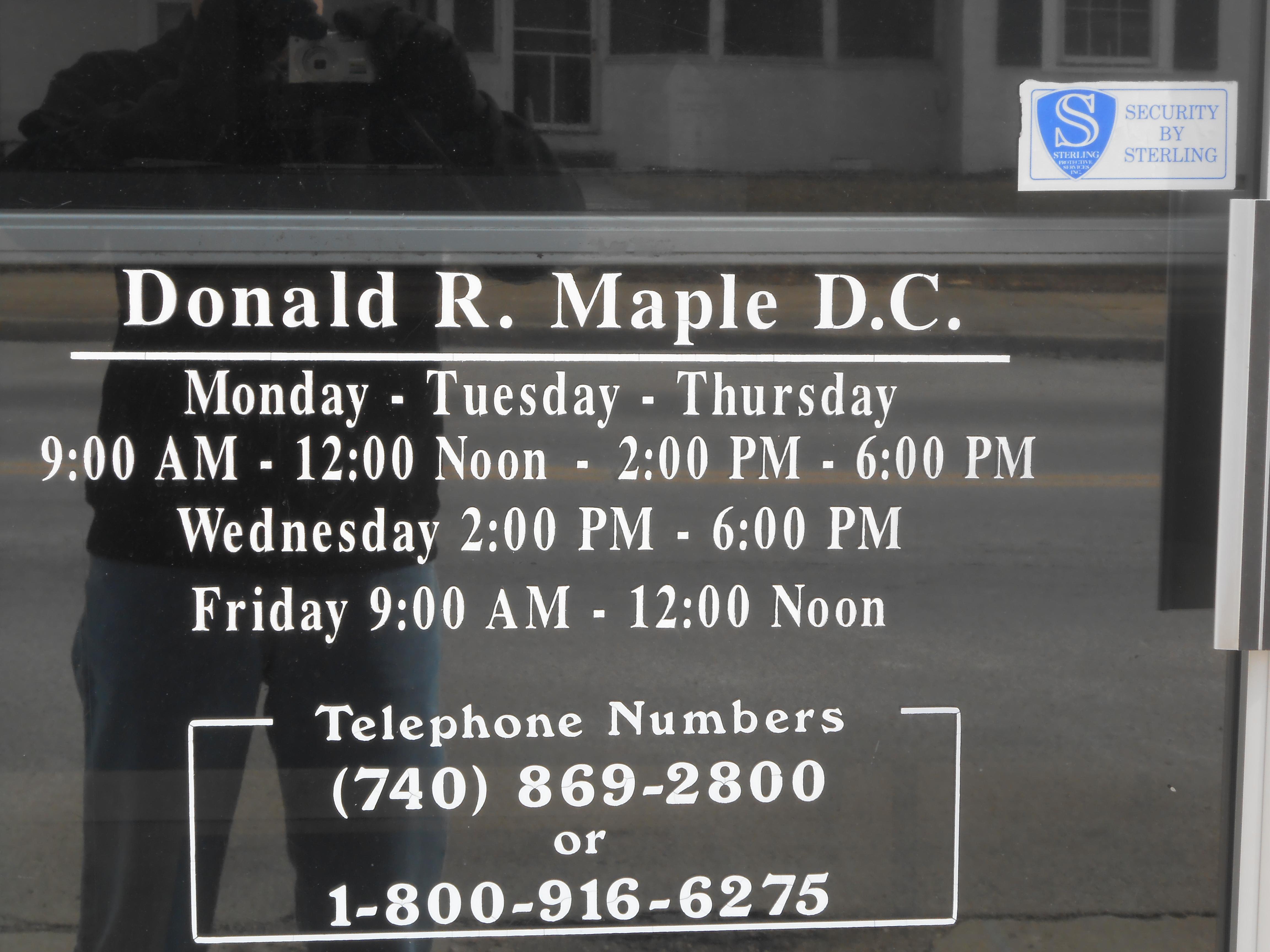 Dr. Donald R. Maple D.C.