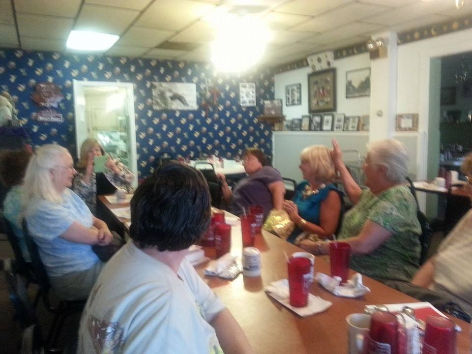 The group enjoyed a great food with great conversation at Ben & Joy's