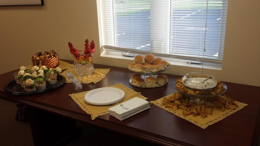 Friends of the Library provided a fabulous feast of finger foods!