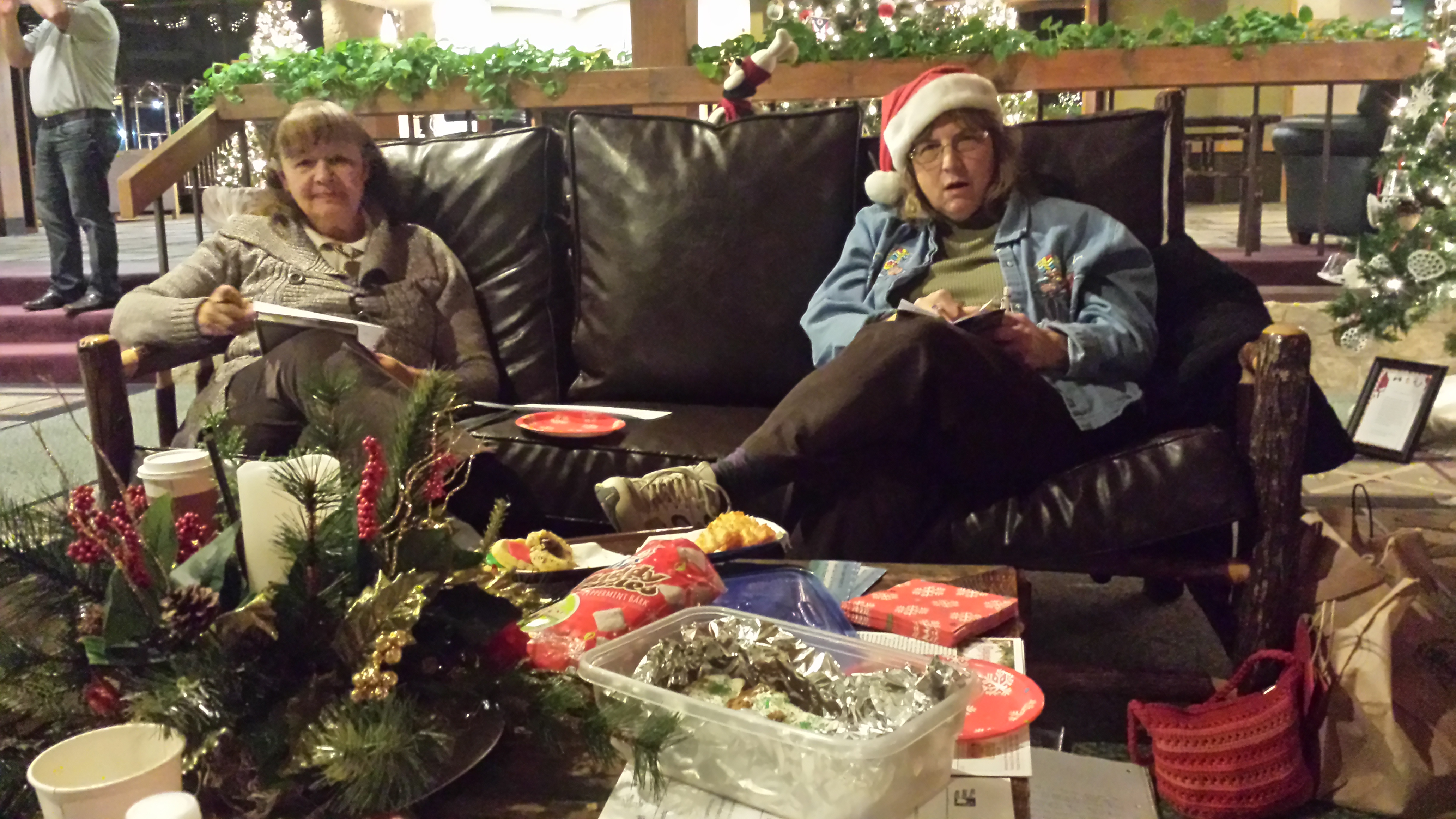 """""""Around Town"""" Book Club met at the Deer Creek Lodge for the combined November/December meeting."""