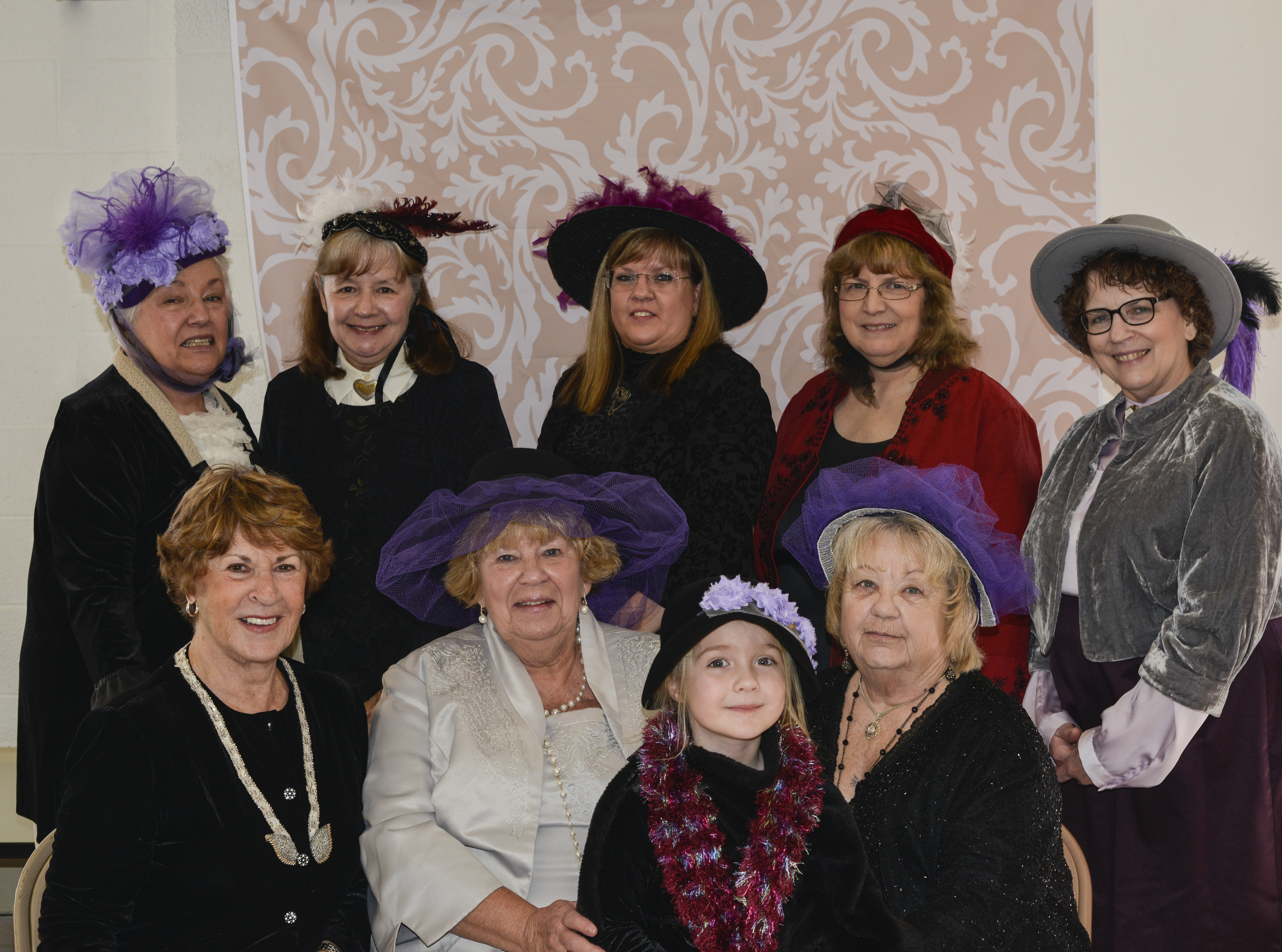 Friends of the Library members in attendance at the 4th Annual Victorian Tea