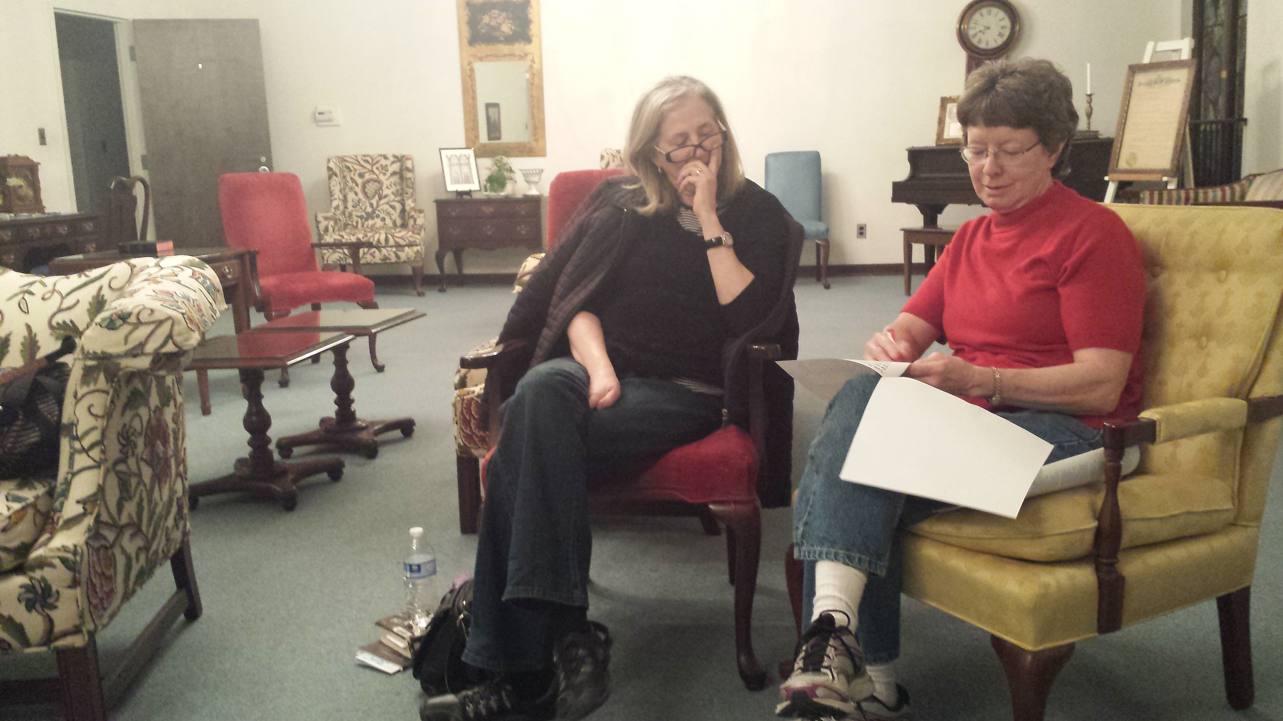 Members met in the lounge of the United Church for the March 2015 meeting