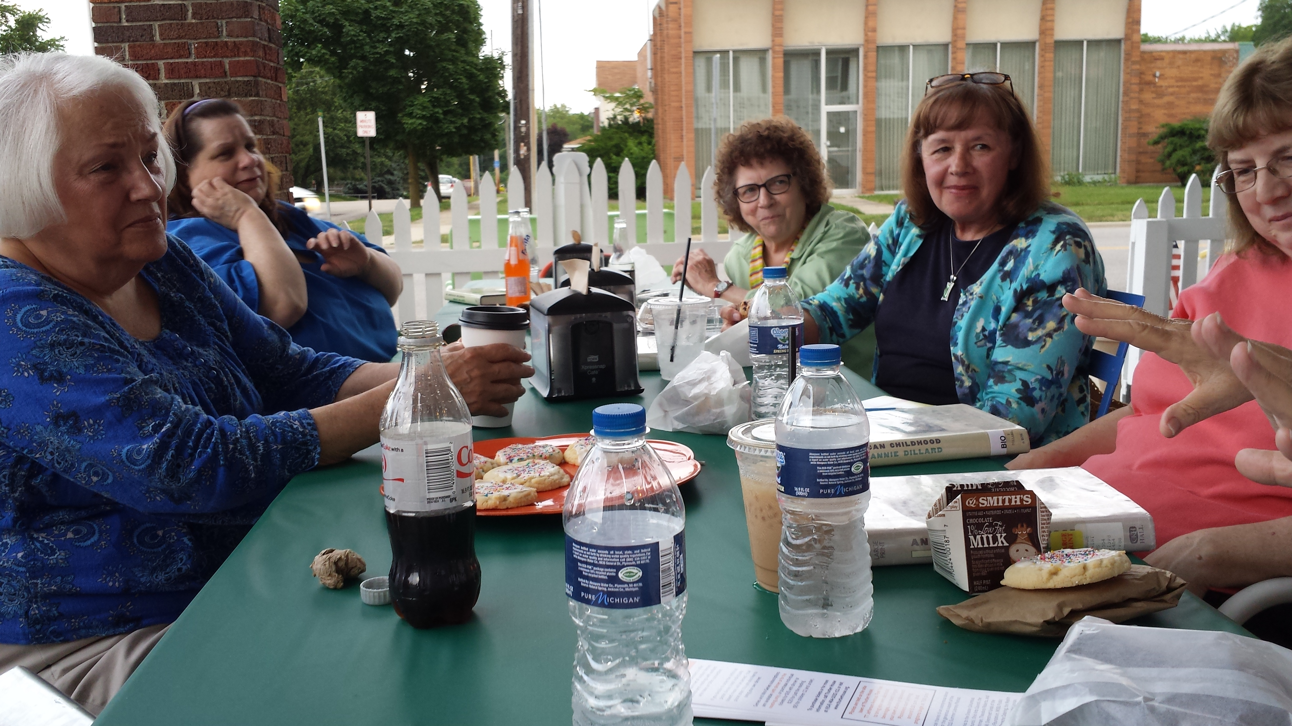 """The """"Around Town"""" Book Club met at Sweet Bessie for the May meeting"""