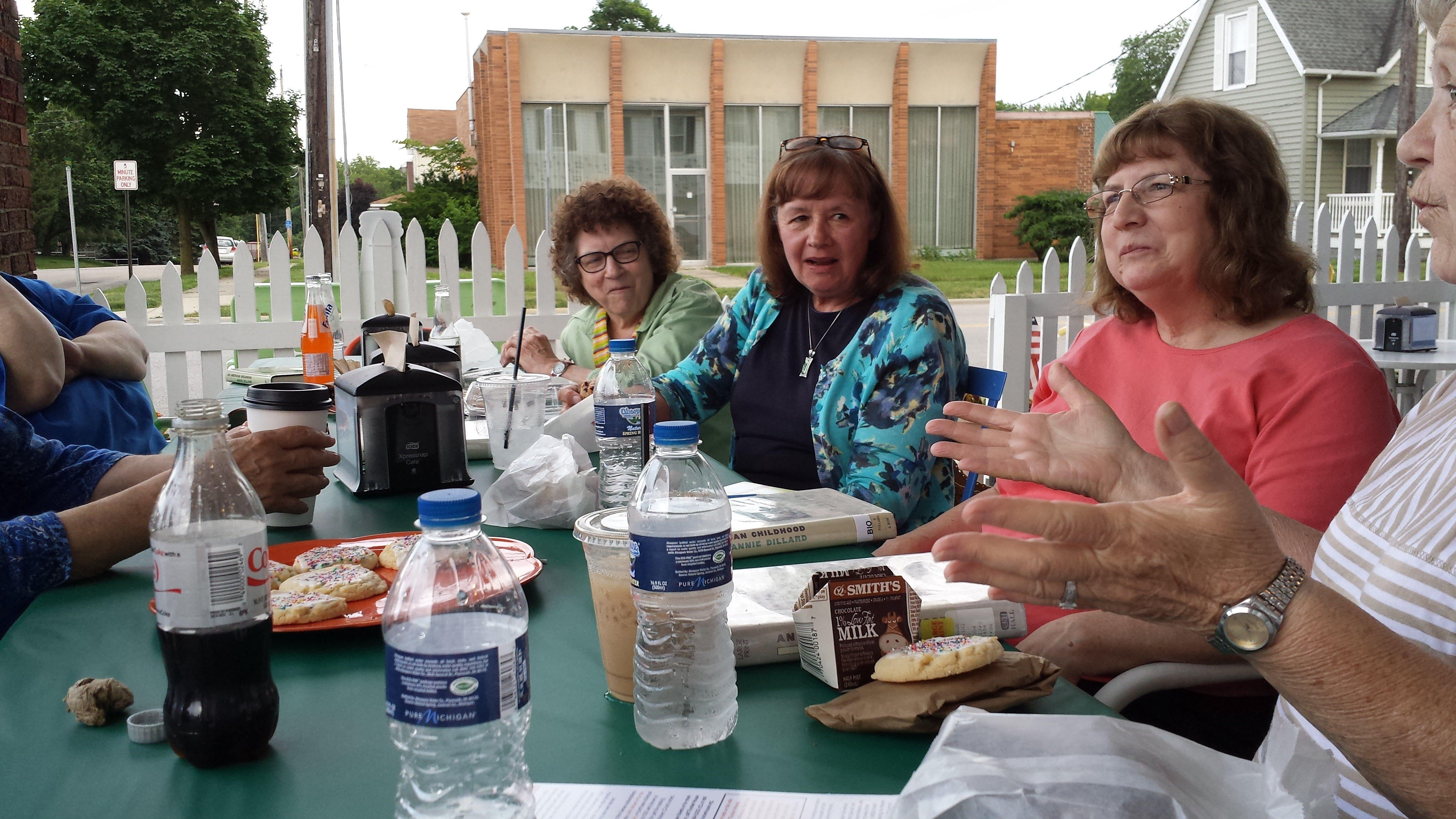 Everyone enjoyed delicious food with a great book discussion