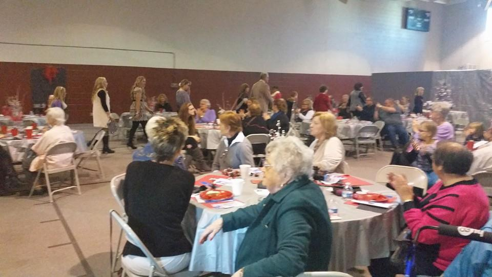 There was a great turnout at the Holiday Family Fashion Show put on by the Friends of the Library