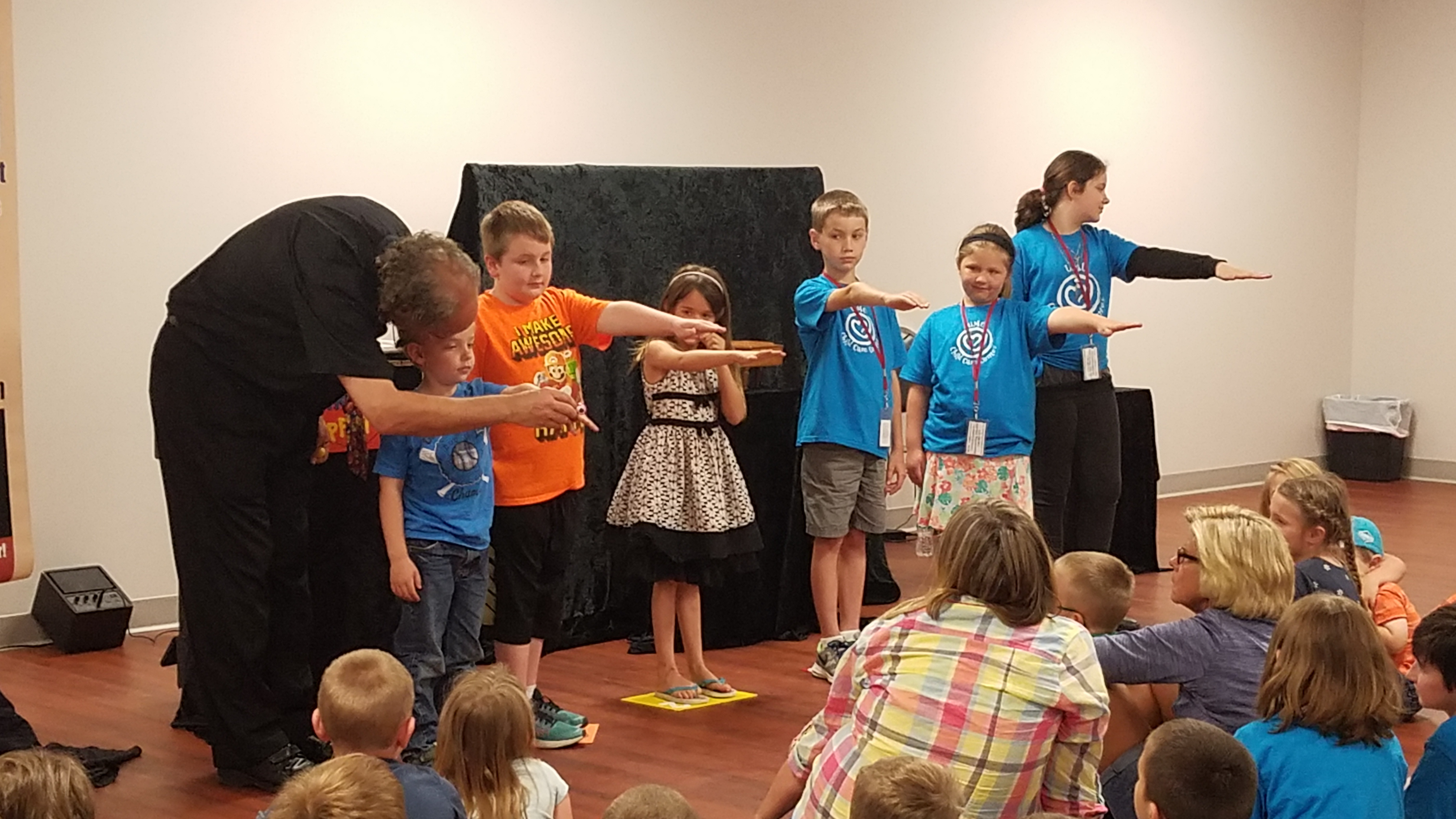 The library brought Mr. Puppet to the Community Center for all to enjoy