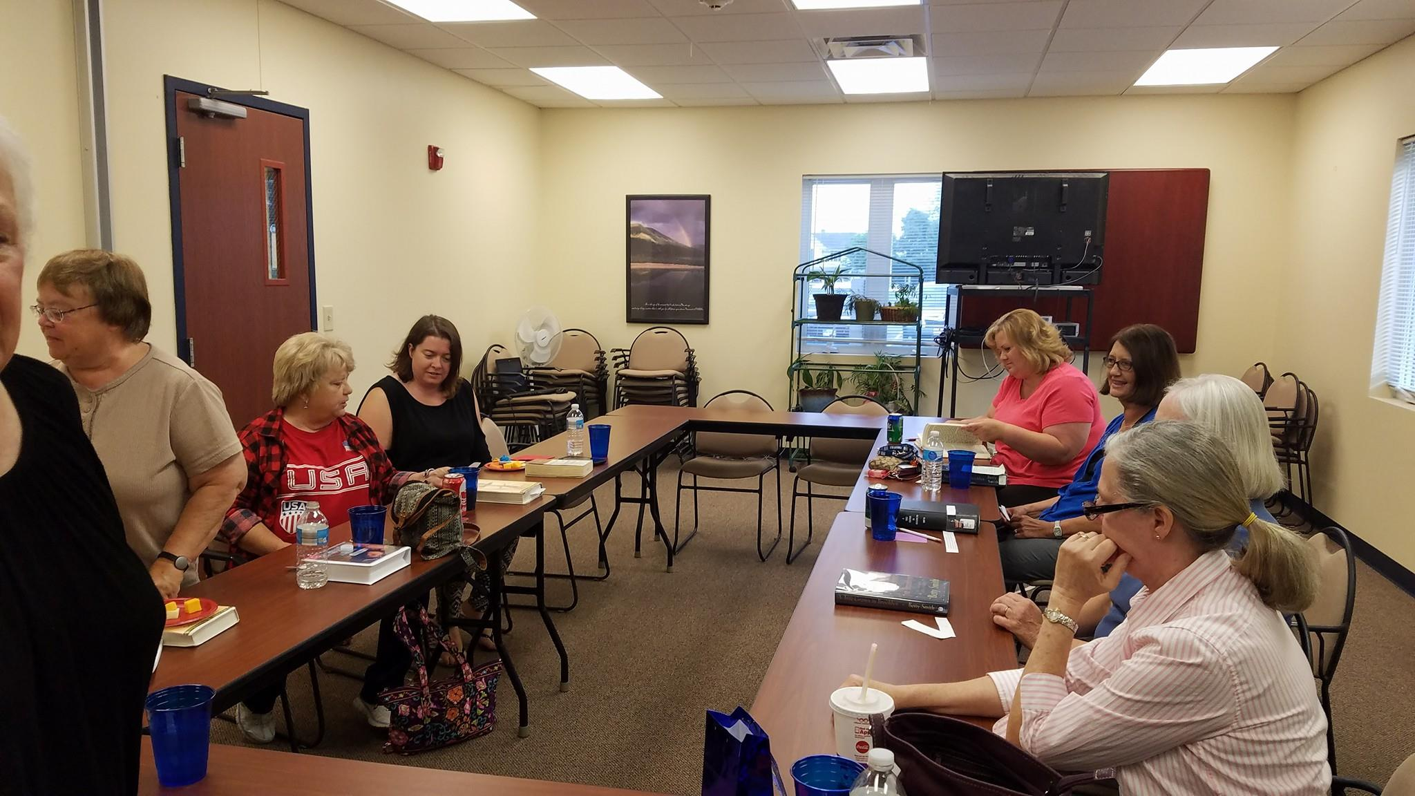"11 people attended the June ""Around Town"" Book Club meeting at the community center.  The August meeting will be held Thursday, August 25 at 7:00 p.m. at the library.  Refreshments will be provided."