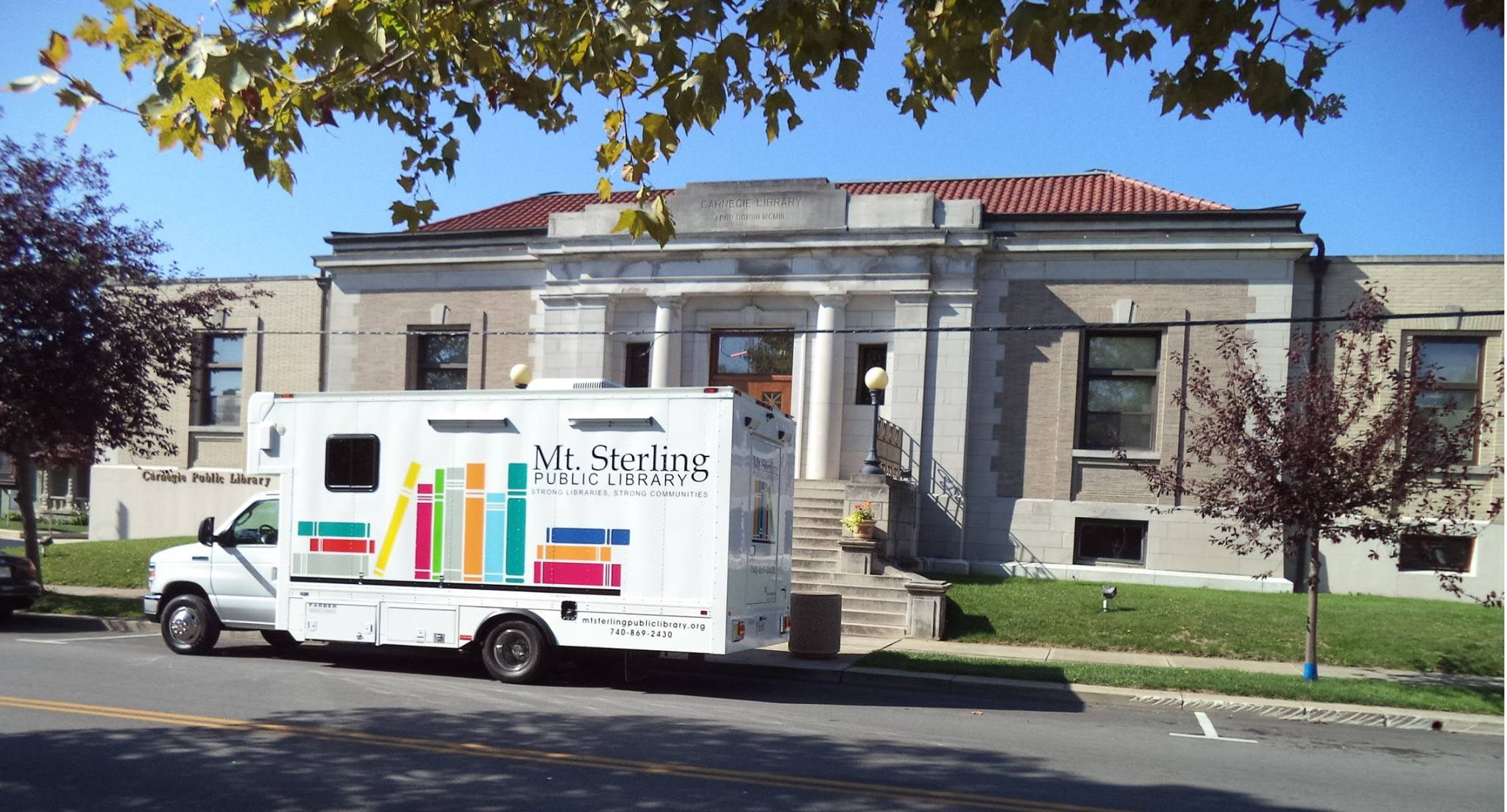Our bookmobile recently visited our neighboring library in Washington Court House!