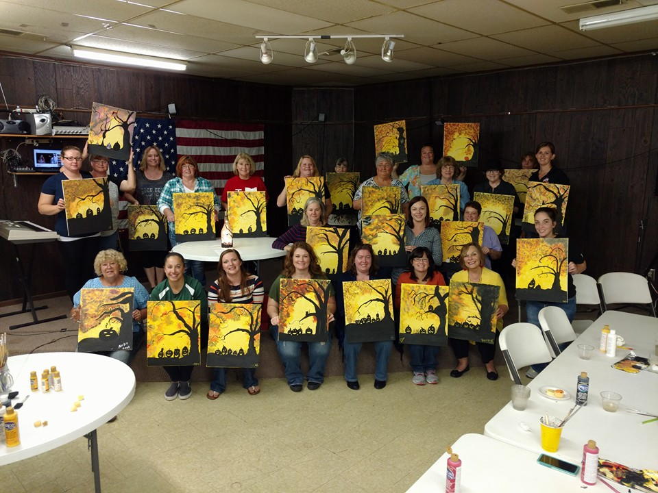 Mt. Sterling Friends of the Library hosted their fall fundraiser Paint Mixer at the American Legion Hall
