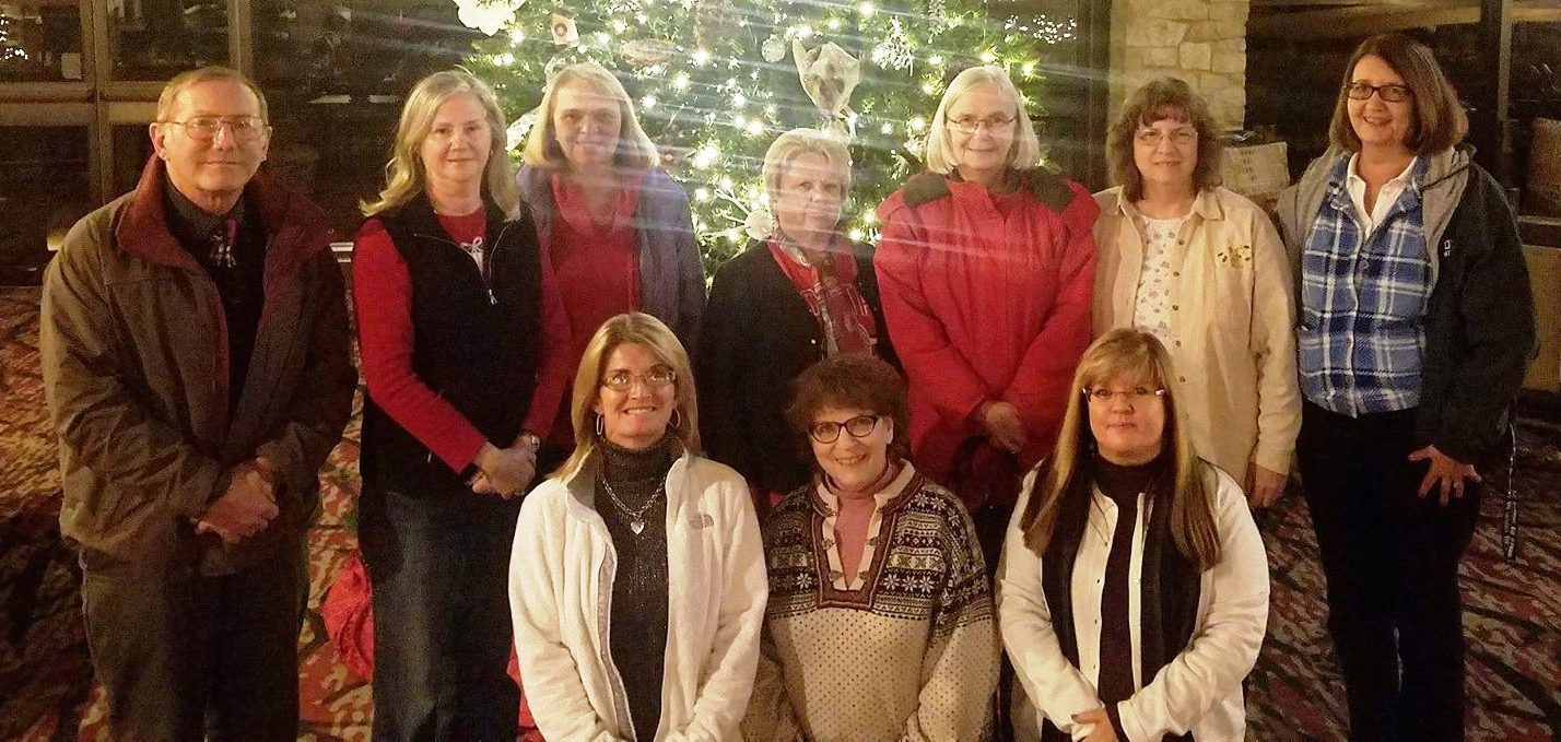 "The ""Around Town"" Book Club gathered for their annual Nov-Dec combined meeting at Deer Creek Lodge"