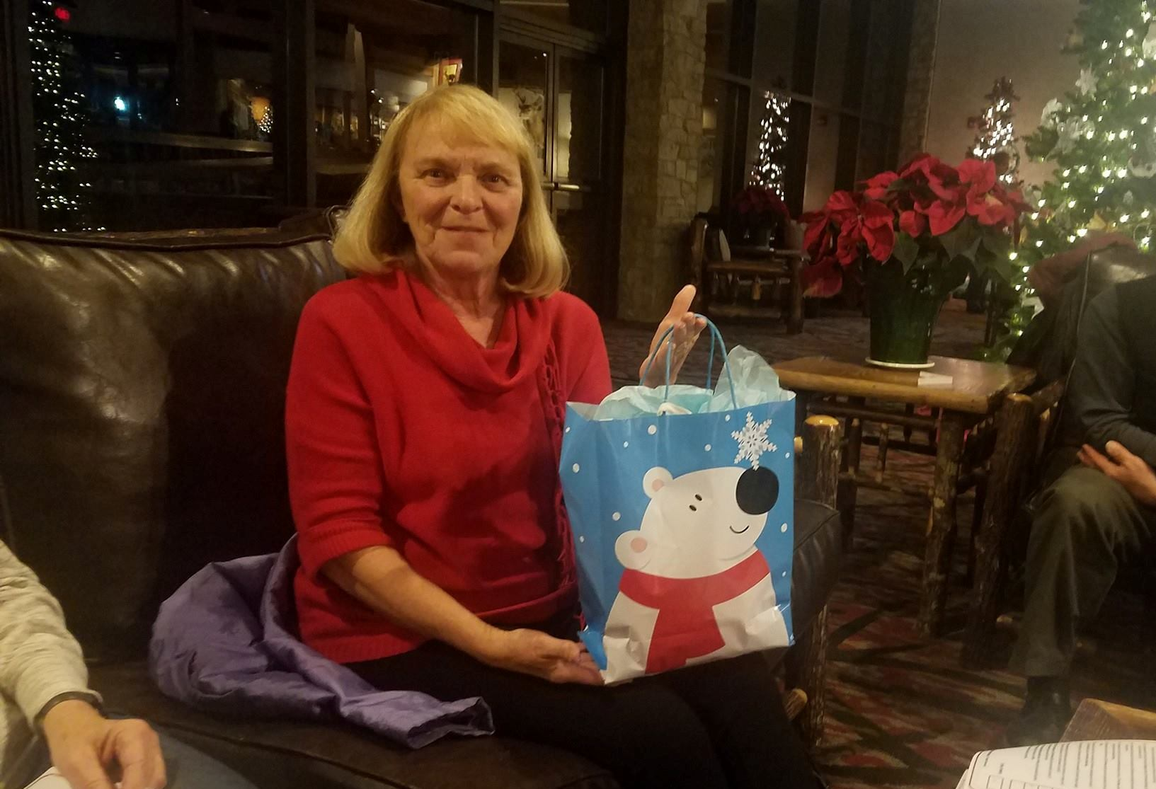 "Pat Arbrogast was winner of one of the fun games at the Nov-Dec ""Around Town"" Book Club meeting."