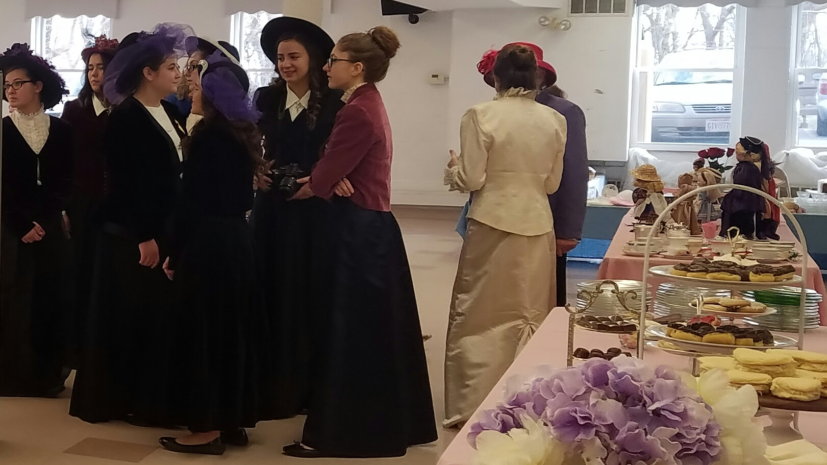 Young ladies of the Madison Plains Key Club volunteered as servers at this years Victorian Tea.