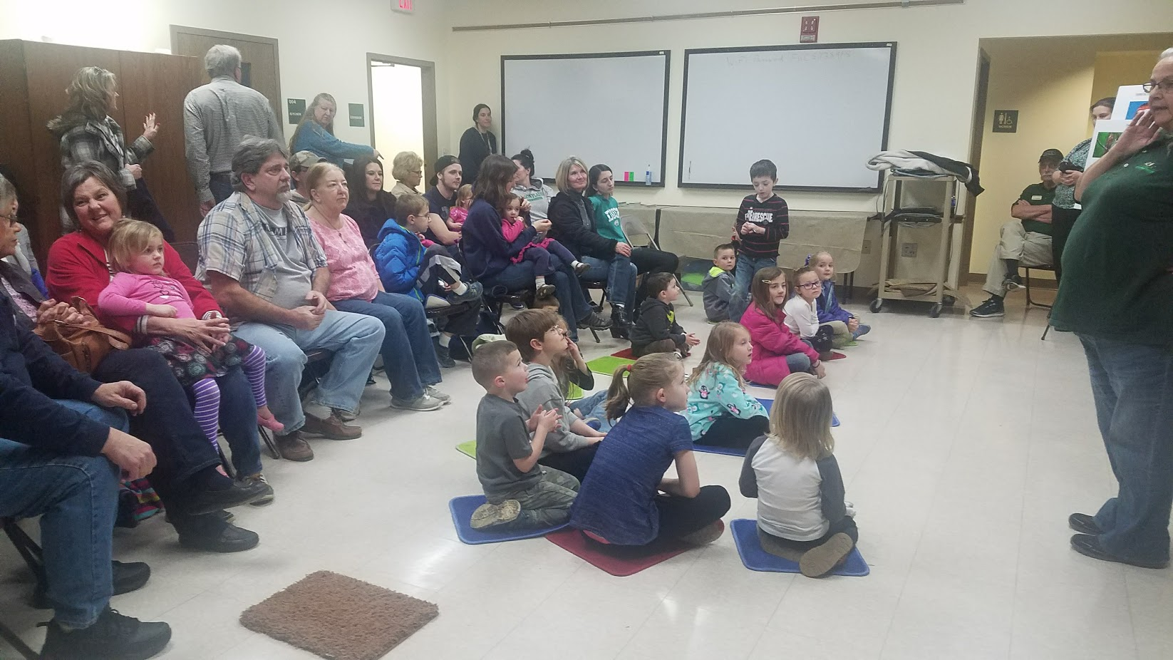 Nearly 60 people attended the recent Birds of Prey program at the library.