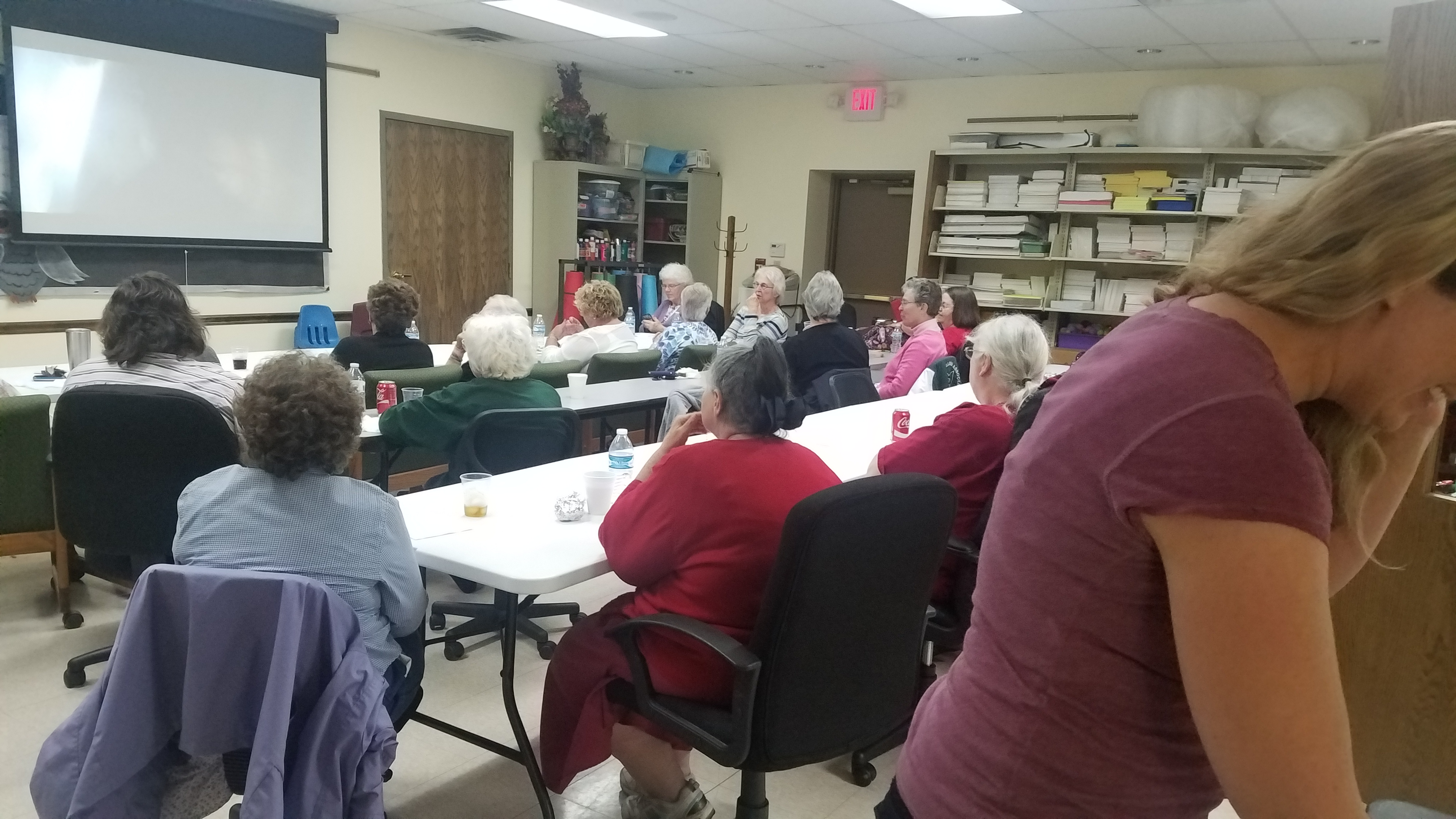 April's Ladies Night Out program proved very popular, with around 30 people in attendance.