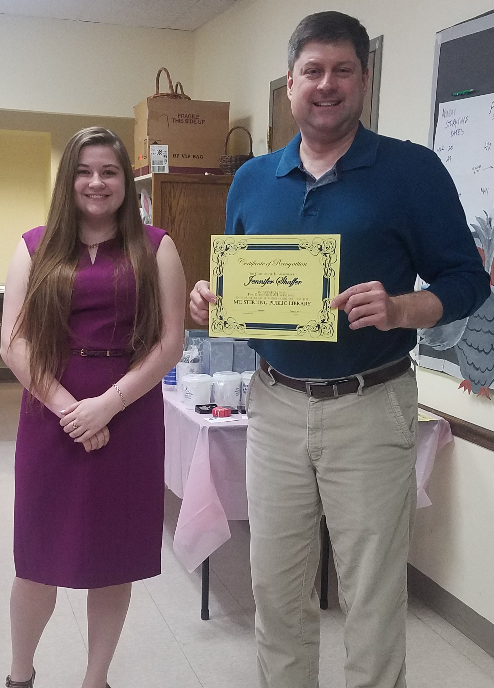 Madison Plains student Jennifer Shaffer volunteered at the Friends of the library's annual Victorian Tea with 7 other Key Club members.