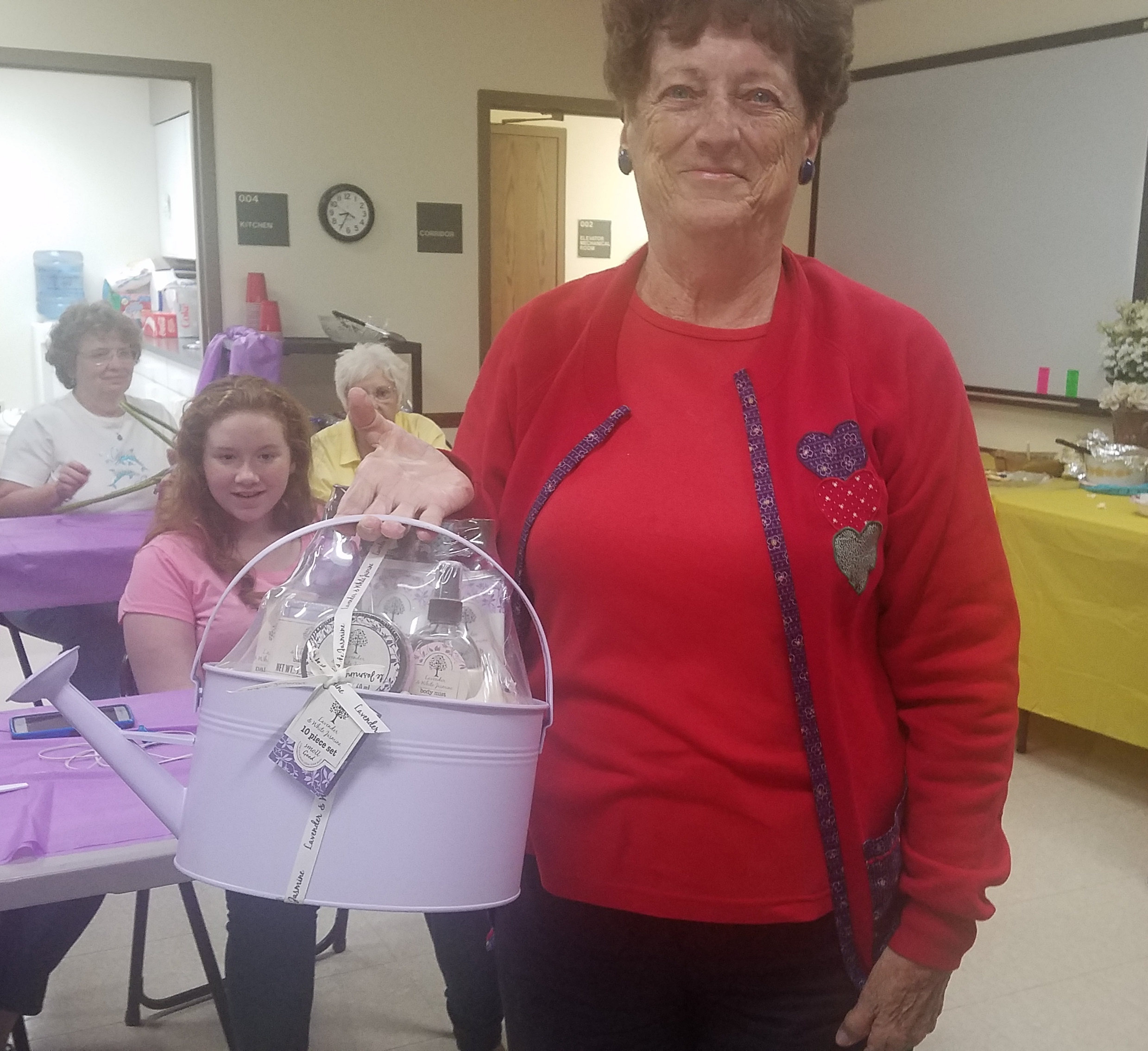 Congratulations to Patsy Smith for winning one of the door prizes at the June Ladies Night Out event.