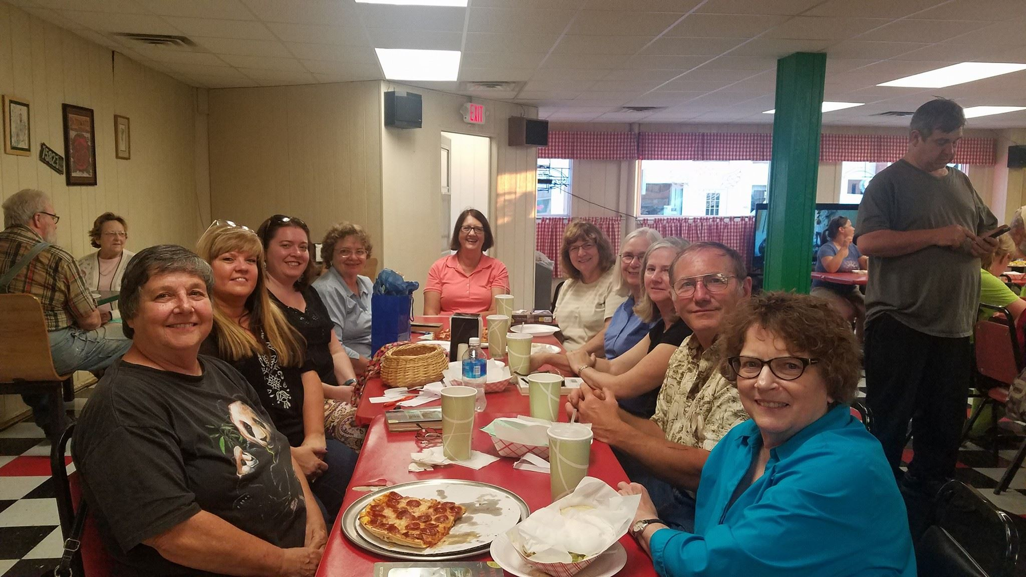 'Around Town' Book Club had a great meeting in July at Larry's Pizza