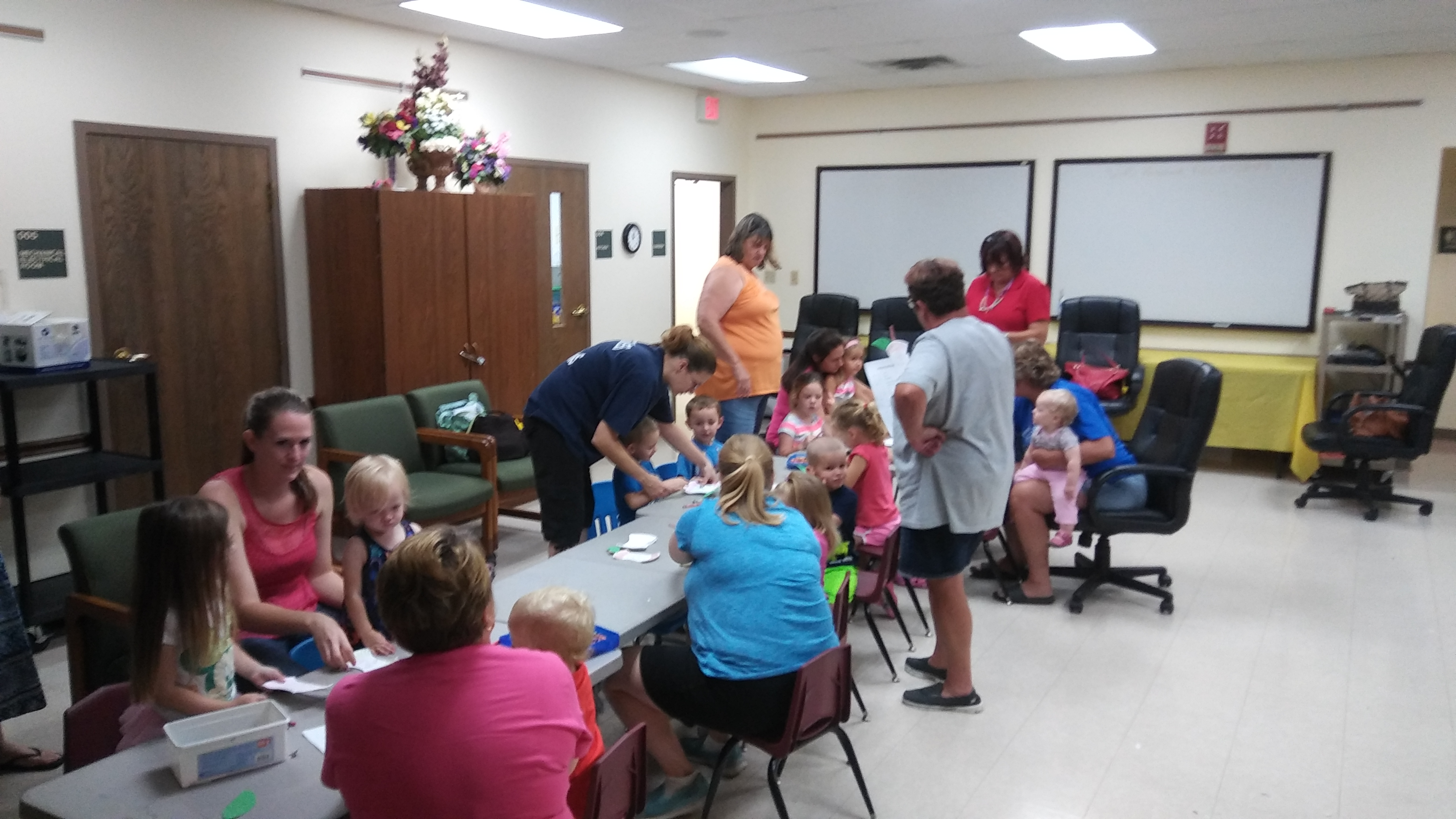 Storytime proves to remain a popular destination for our young families, with 13 children this week and 16 last week.