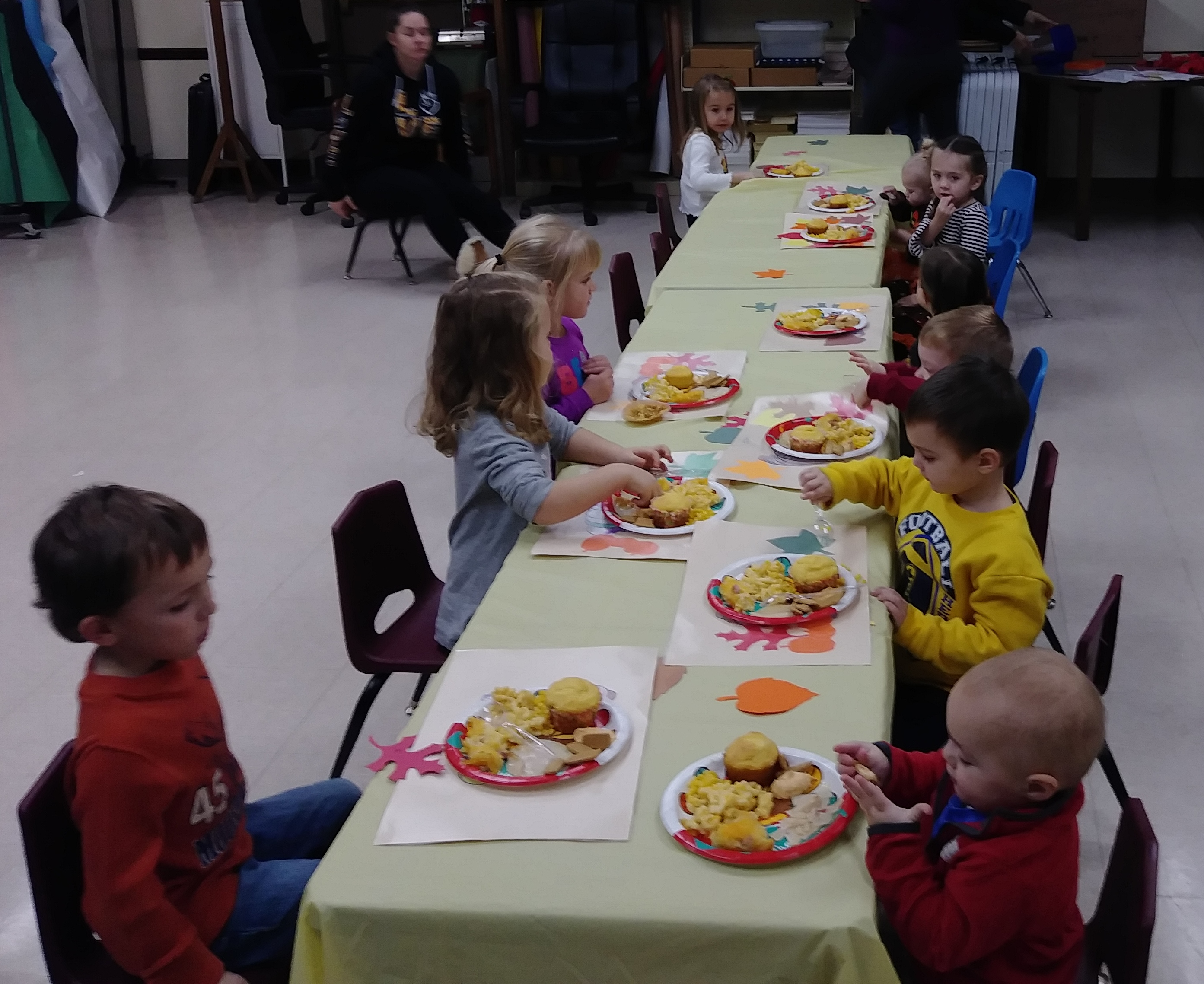 Our annual Storytime Thanksgiving feast was a hit with the preschoolers and their caregivers.