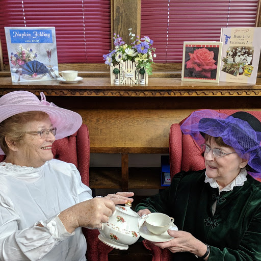 Pat Baynes & Casey O'Neill are prepping for the upcoming annual Victorian Sweetheart Tea. Tickets are available at the advance price at the library now.