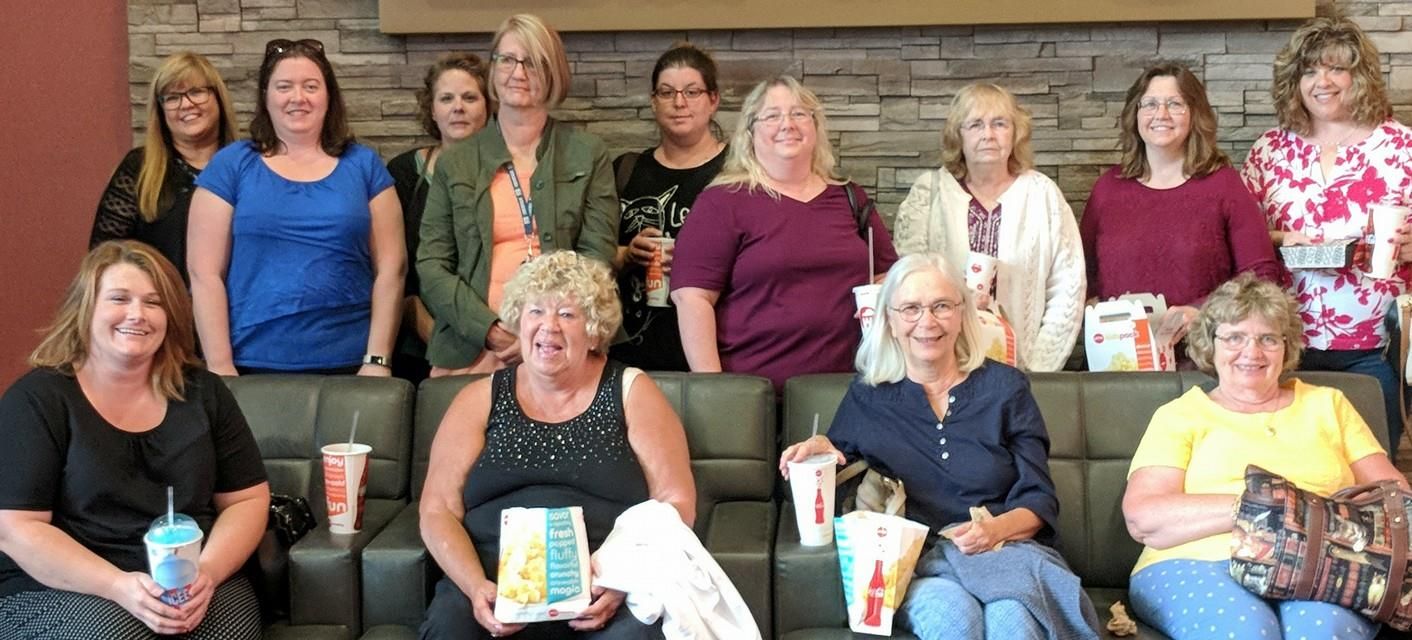 "The 'Around Town' Book Club watched the movie ""Book Club"" for their May event."