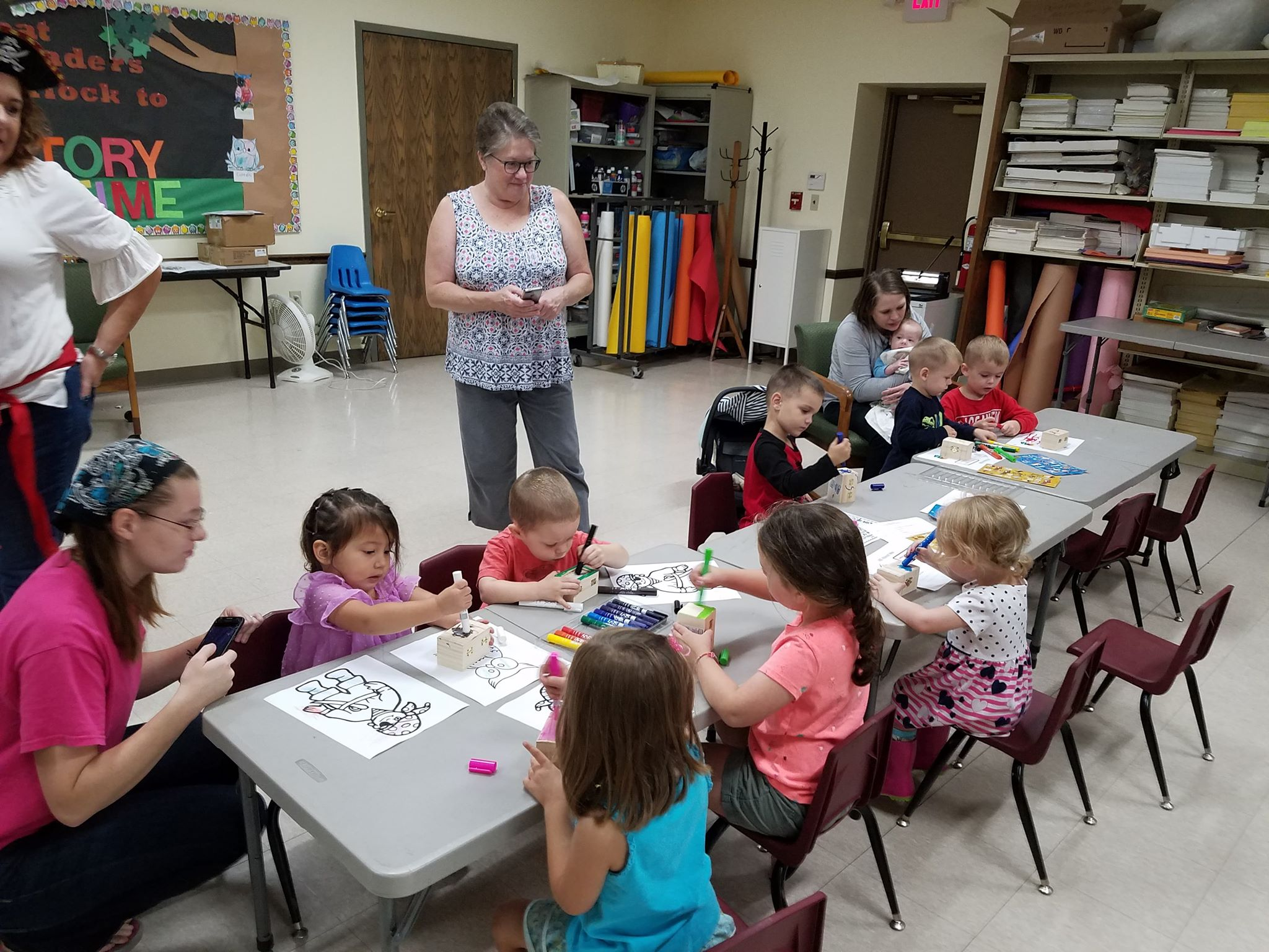 A fun time was had by participants during crafting of our Storytime event.