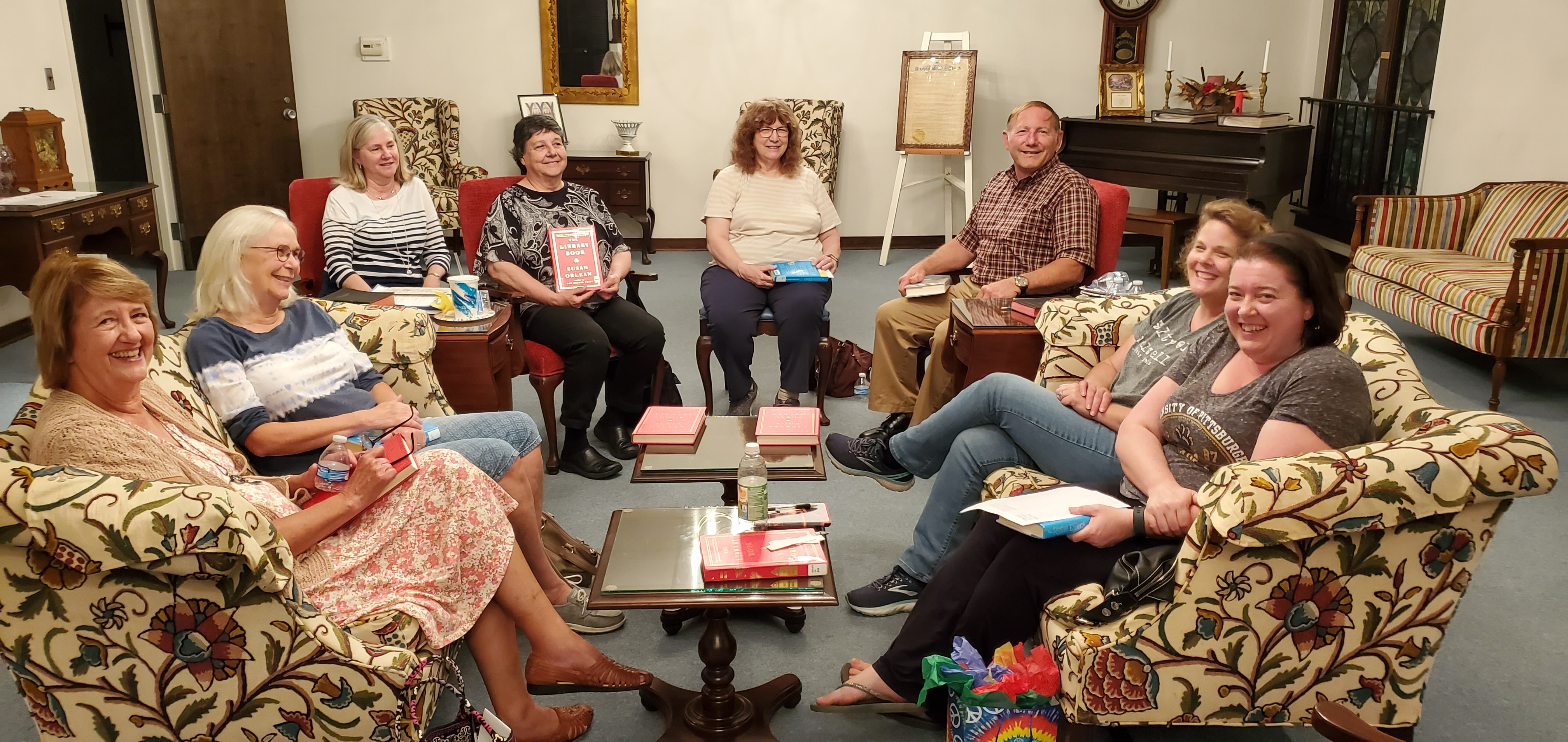The 'Around Town' Book Club had a great time at the May meeting.