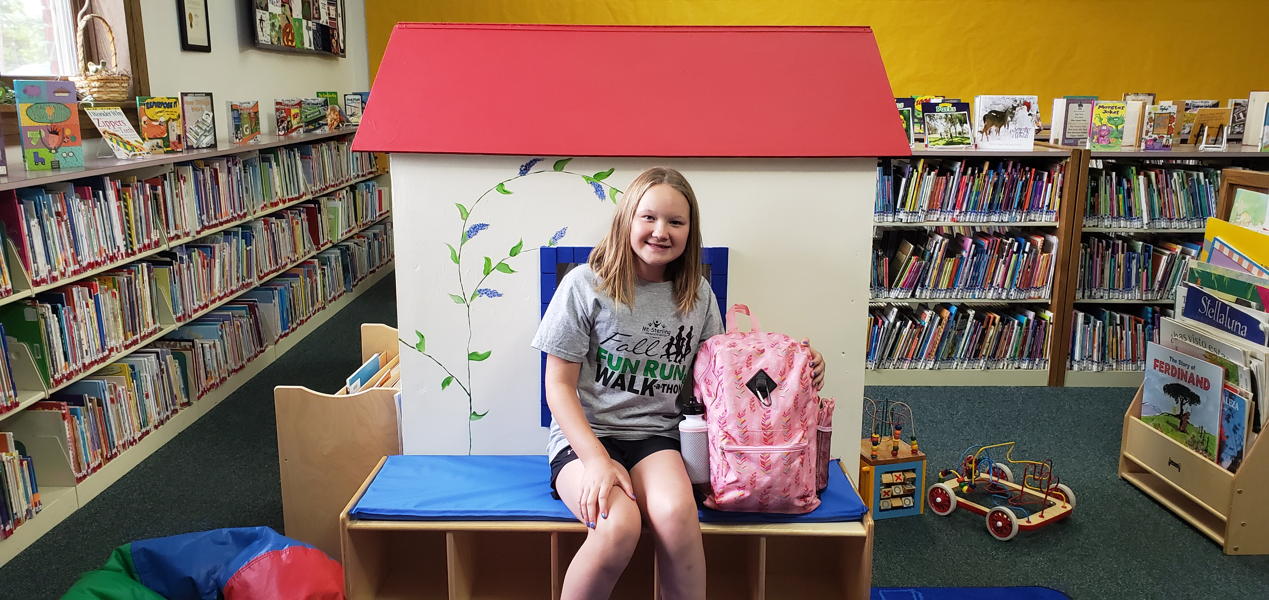 Sadie Mason was the second recipient from our drawing at the conclusion of the Summer Reading Club. Congratulations to all of our summer reading program winners!