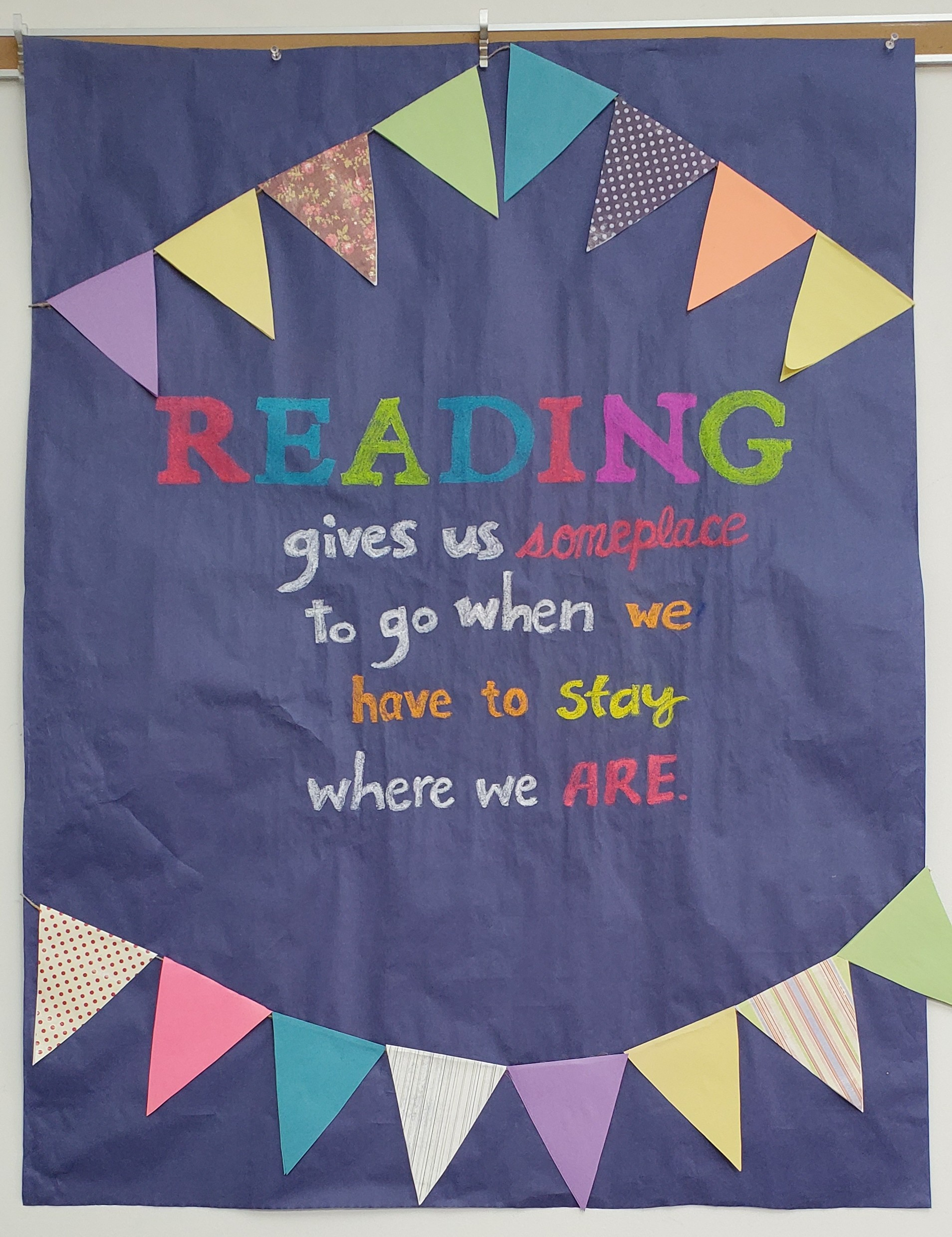 A talented library staff member create this cute display in the library.