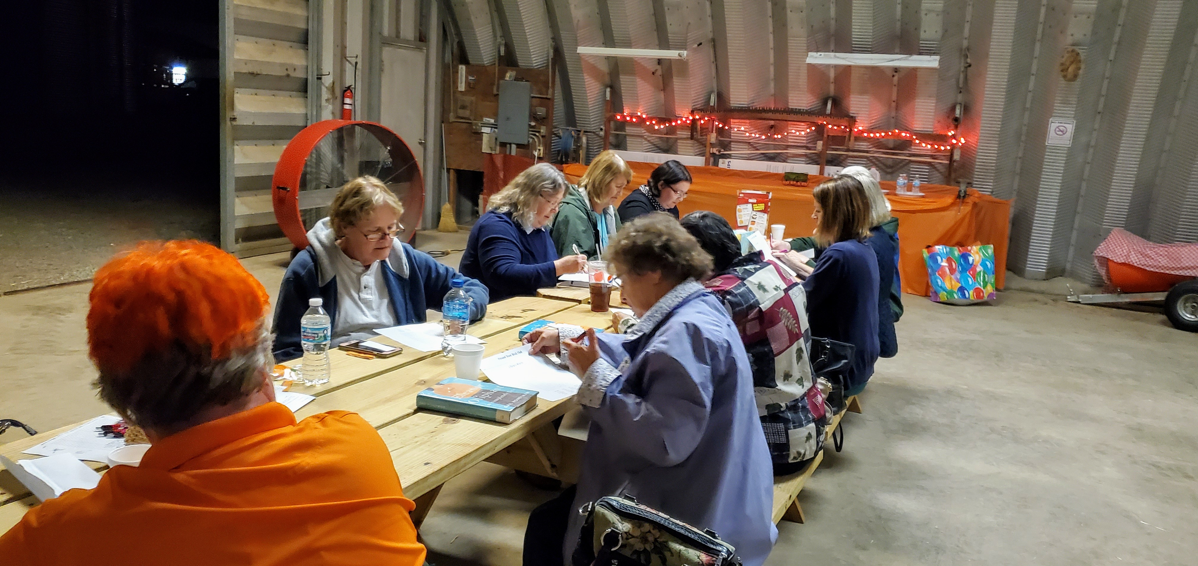 12 members attended the September 'Around Town' Book Club meeting, which was held at Lohstroh Farm for the first time!