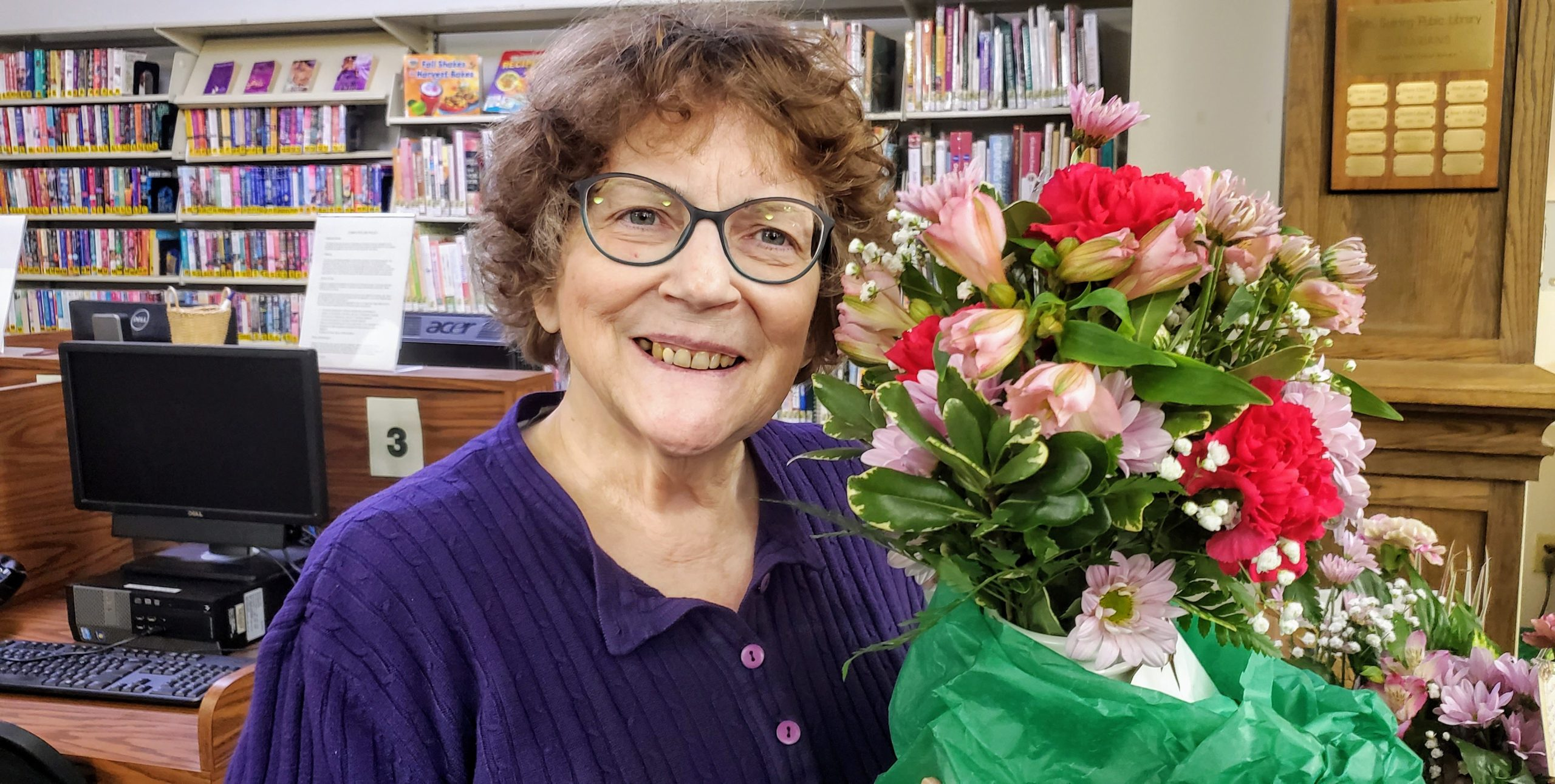Casey O'Neill was recognized at the January meeting for her many years of service to the Friends of the Library.