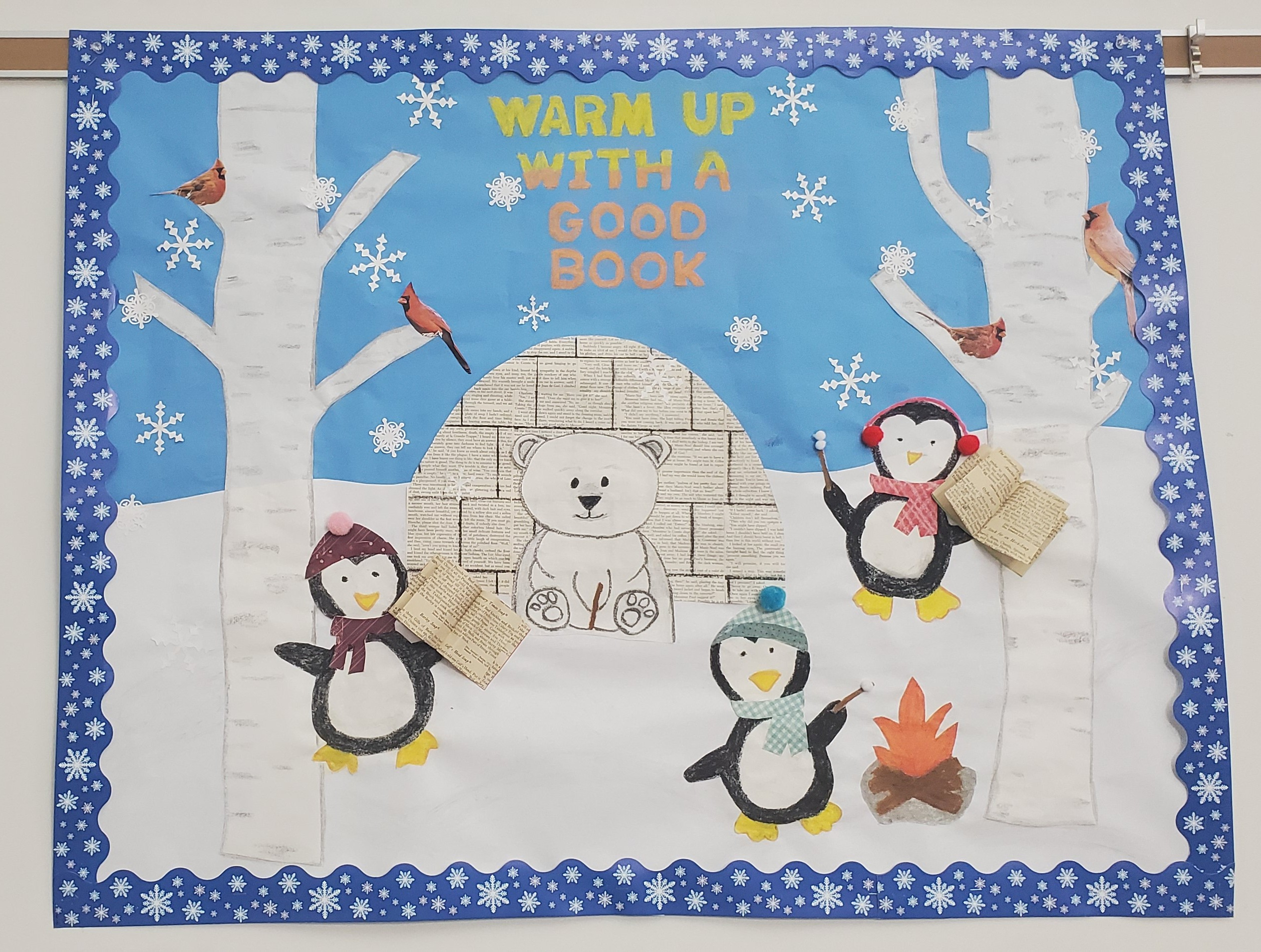 Another creative bulletin board from the talents of assistant librarian, Jeanne.