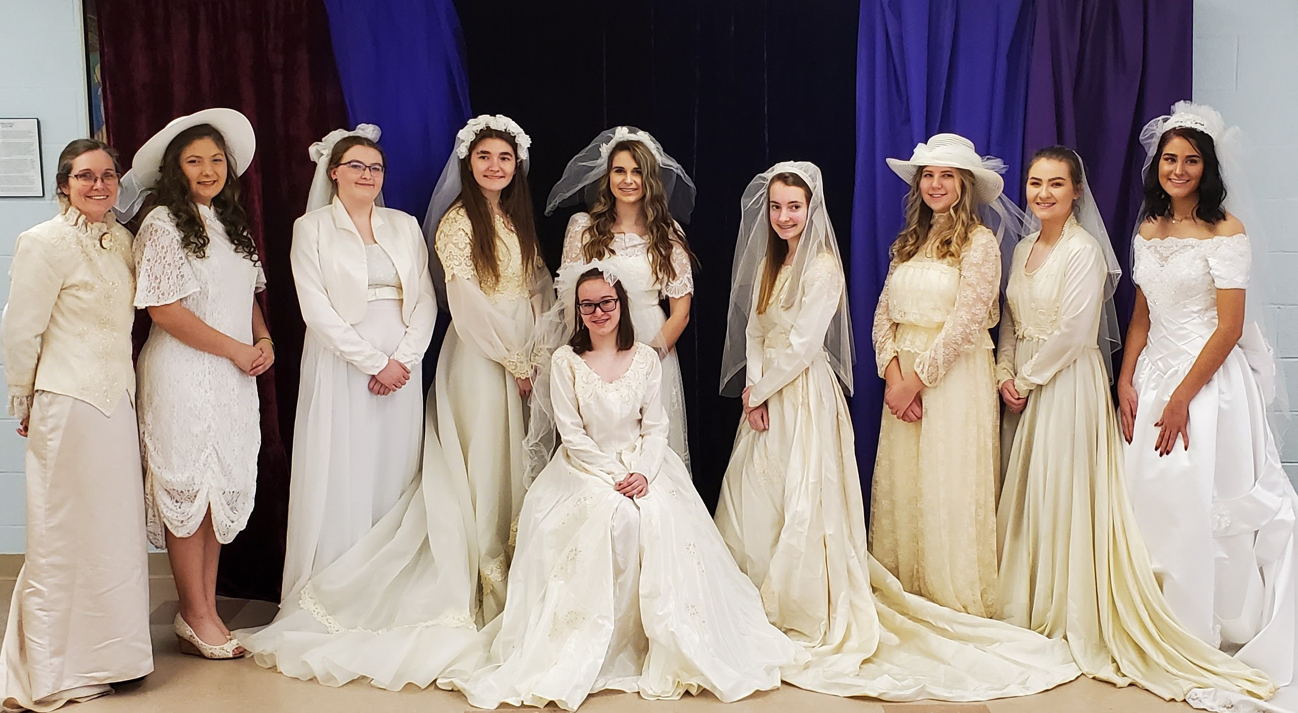 New this year at the Victorian Tea was the addition of a vintage bridal show. Madison Plains Key Club both modeled and performed tableside tea service to all guests