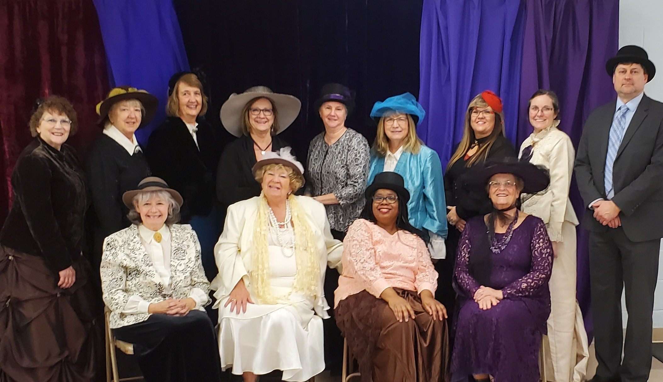 Friends of the Library members and some staff and board members helped make the 9th Annual Victorian Tea a huge success!