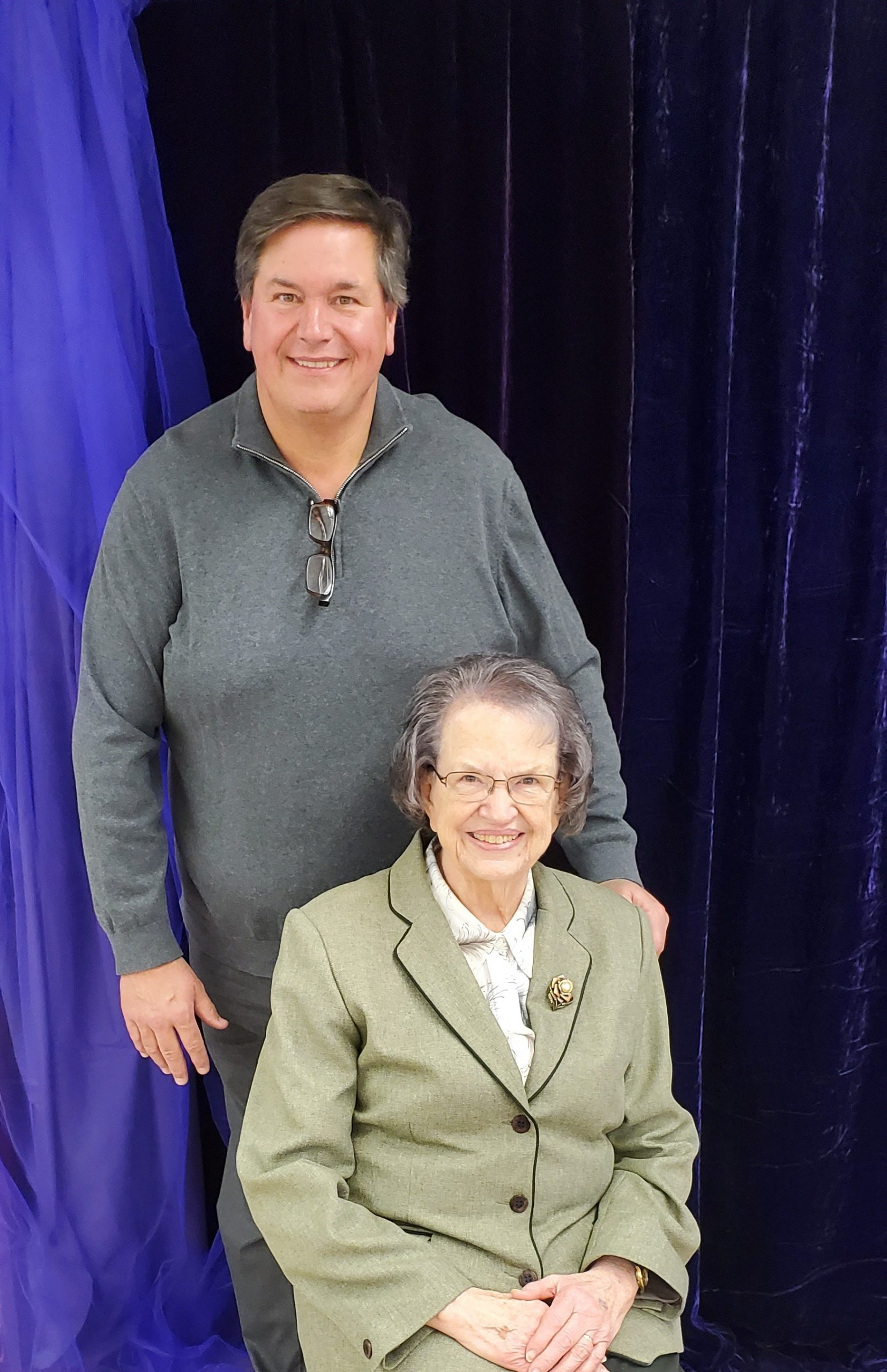 Local celebrity pianist extraordinaire Ralph Ross performed the duration of the Victorian Tea, and posed here with his lovely mother Dortha