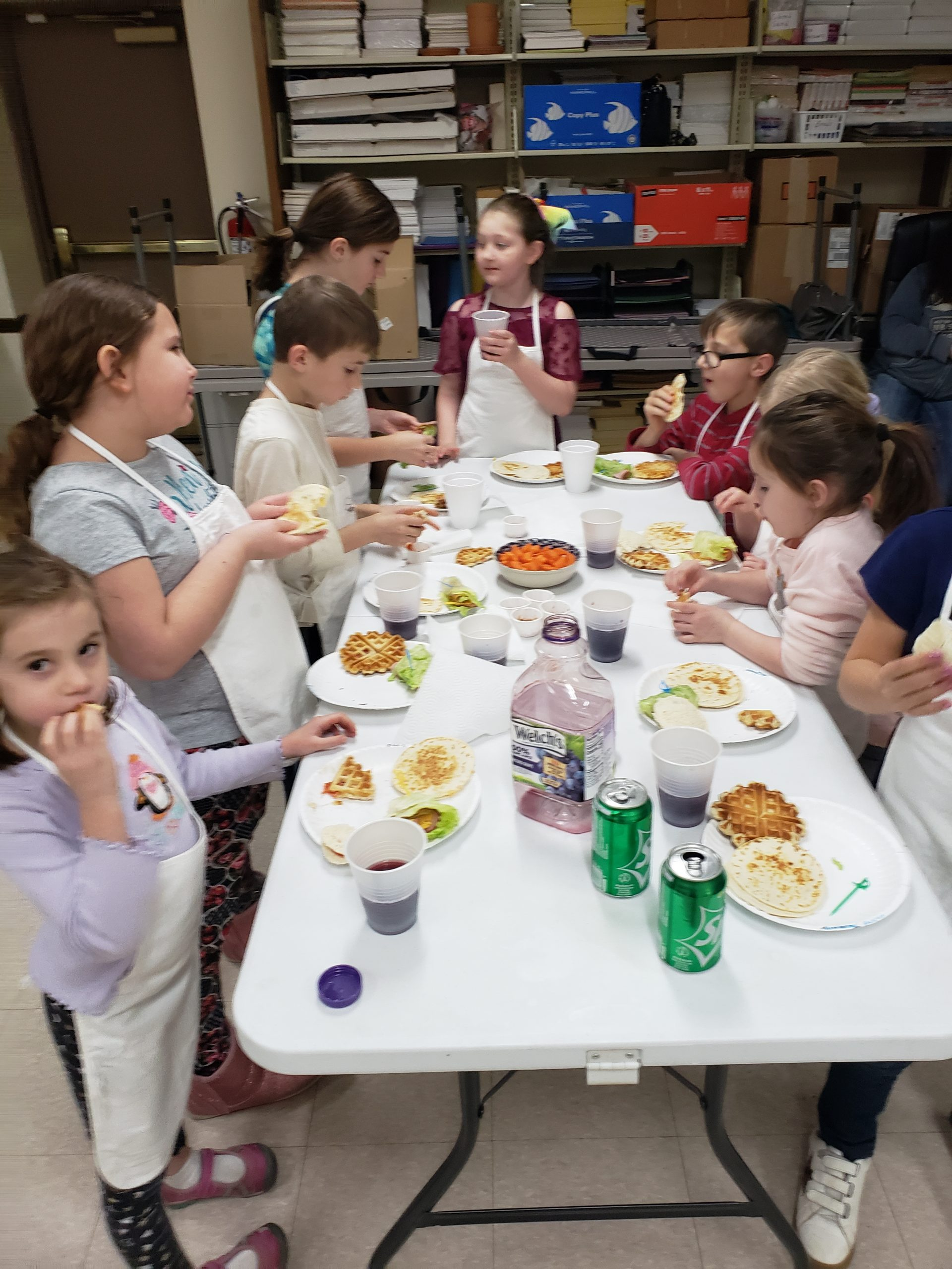 February Kids Cooking Club had a blast with many new dishes and skills learned.