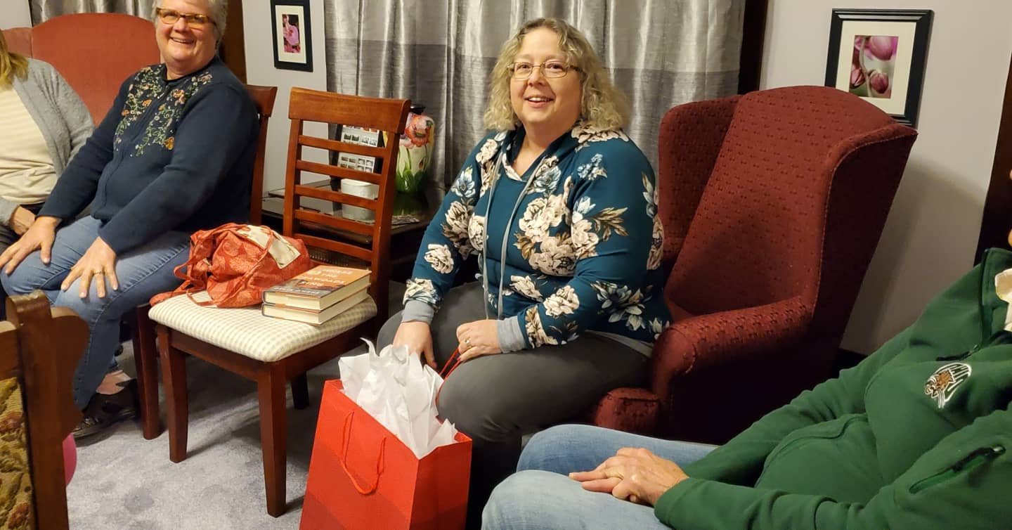 The February 'Around Town' Book Club meeting was a lot of fun, with Lisa Meade our winner of the door prize.