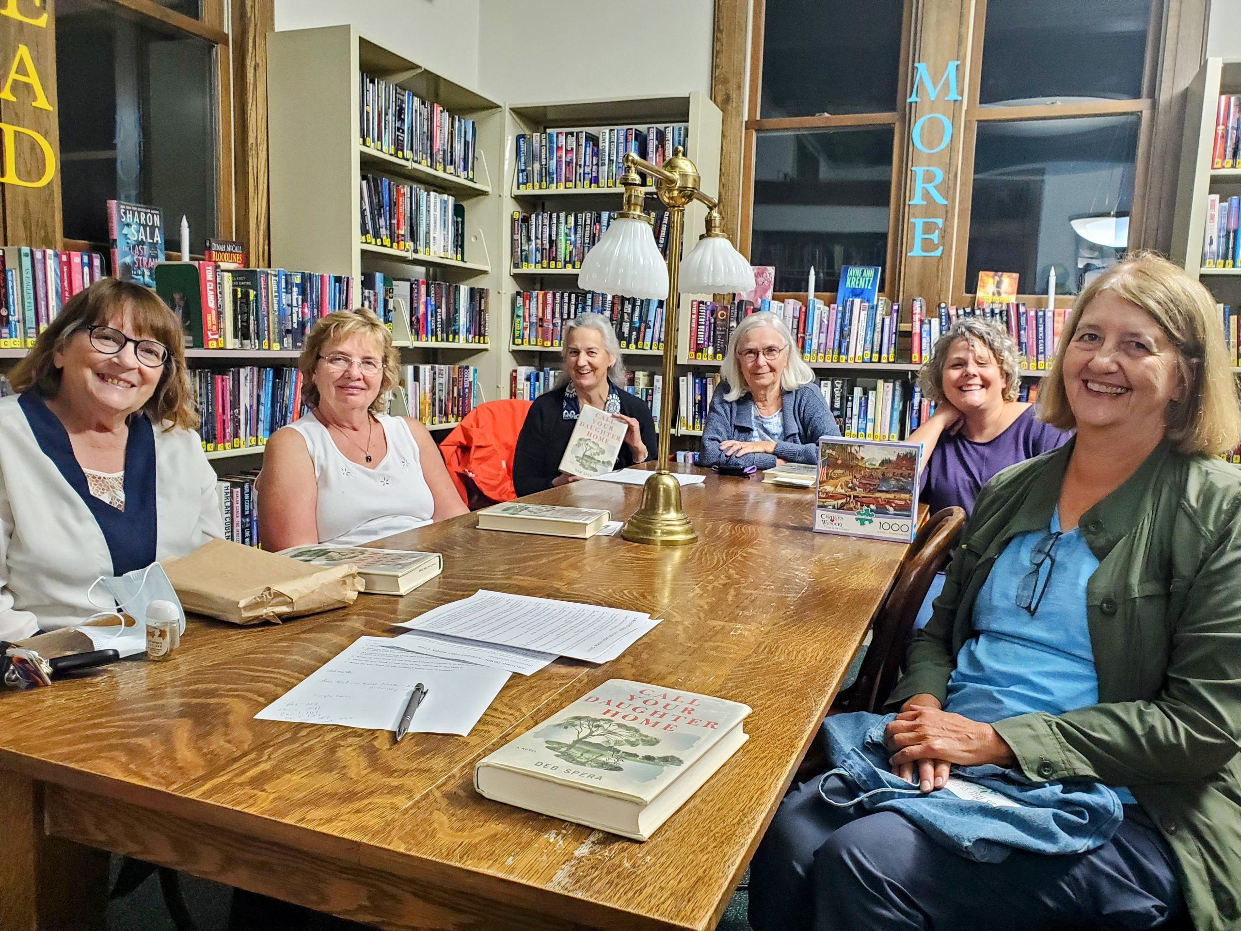 The 'Around Town' Book Club met at the library in August